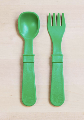 Re-Play Utensil Pair in Kelly Green