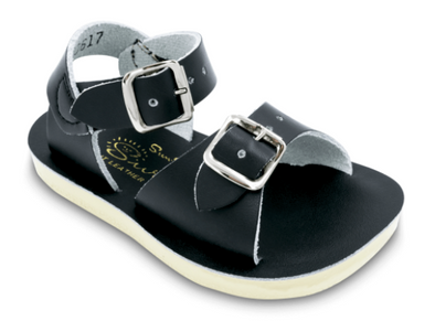 Salt Water Surfer Sandals in Black