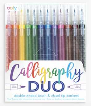 OOLY Calligraphy Duo Chisel and Brush Tip Markers