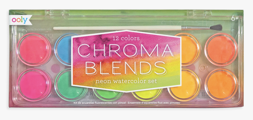 OOLY Chroma Blends Watercolor Paint Set in Neon