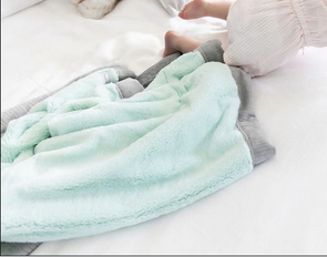 Saranoni Lush Receiving Blanket in Mint Gray