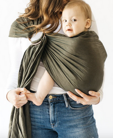 Evergreen Ringsling w/ Rose Gold