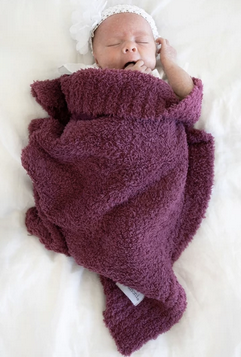 Saranoni Bamboni Mini Blanket in Deep Rose