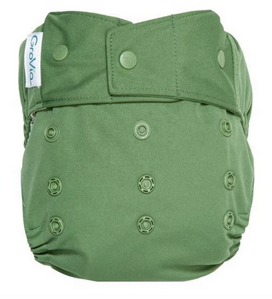 GroVia Diaper Shell Snap in Basil