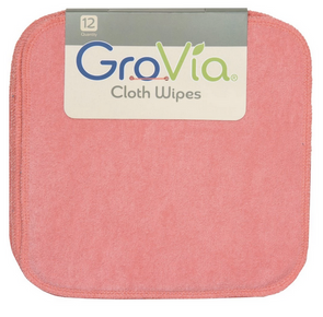 GroVia Cloth Wipes in Rose