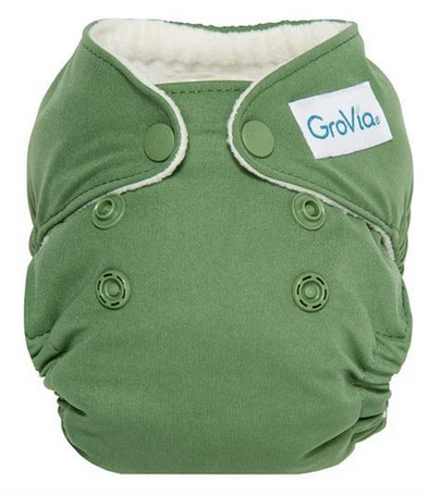 GroVia Newborn AIO in Basil