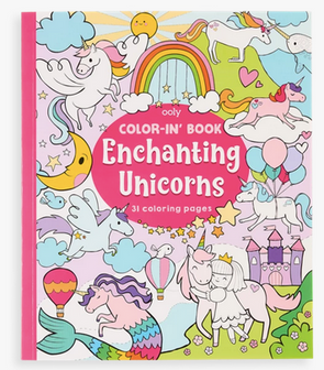 OOLY Color-in Book Enchanting Unicorn