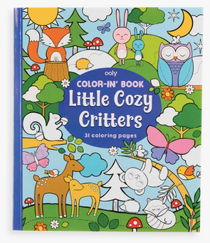OOLY Color-in Book Little Cozy Critters