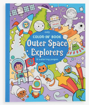 OOLY Color-in Book Space Explorers