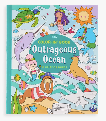 OOLY Color-in Book Outrageous Ocean
