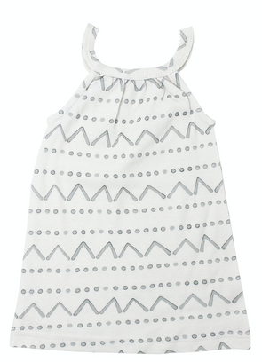L'ovedbaby Halter Baby Dress in Sea Foam Mountains