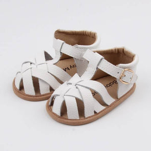 White Baby Moccasin Sandal