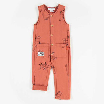 Rust Dog Romper
