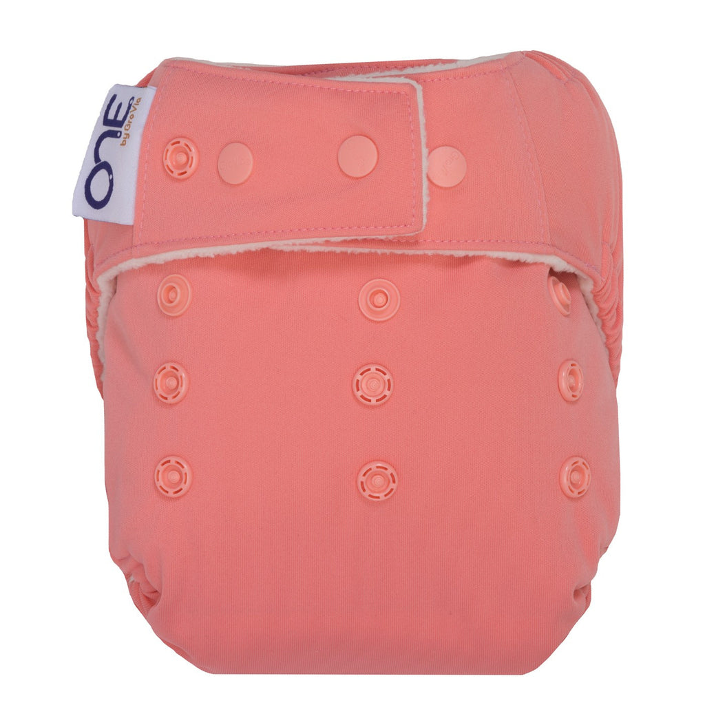 GroVia O.N.E Diaper in Rose