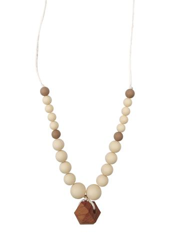 Chewable Charm Collins Cream Teething Necklace