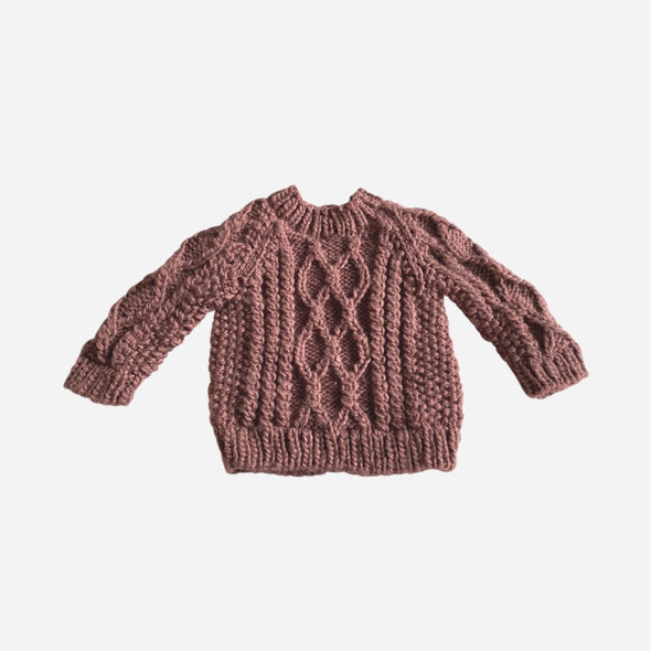 Mauve Fisherman Sweater