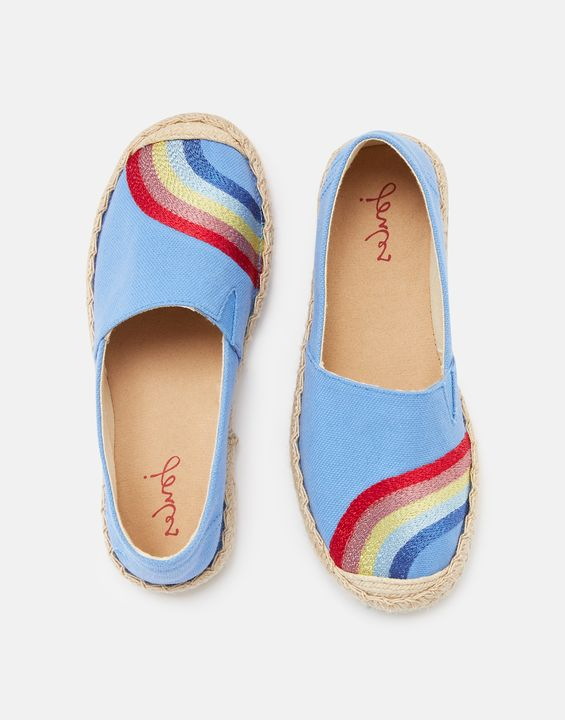 Joules Espadrille Shoes in Rainbows