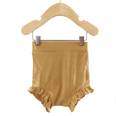 Spearmint Love Ruffle Bloomer in Ochre