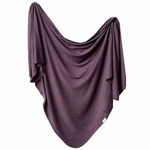 Copper Pearl Swaddle Blanket in Plum