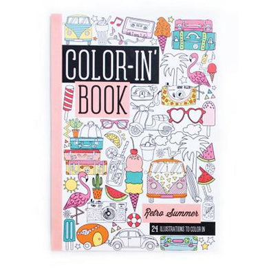 OOLY Coloring Book in Retro Summer