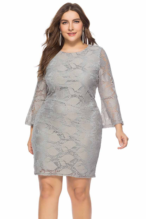 Contoured Straight 'N' Short Lace Dress