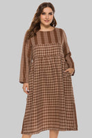 Plus Size Plaid Print Dress