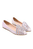 Slip On Crystal Decorated Party Shoes