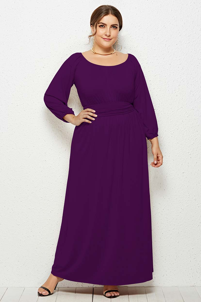 Unique Raglan Sleeve Long Dress