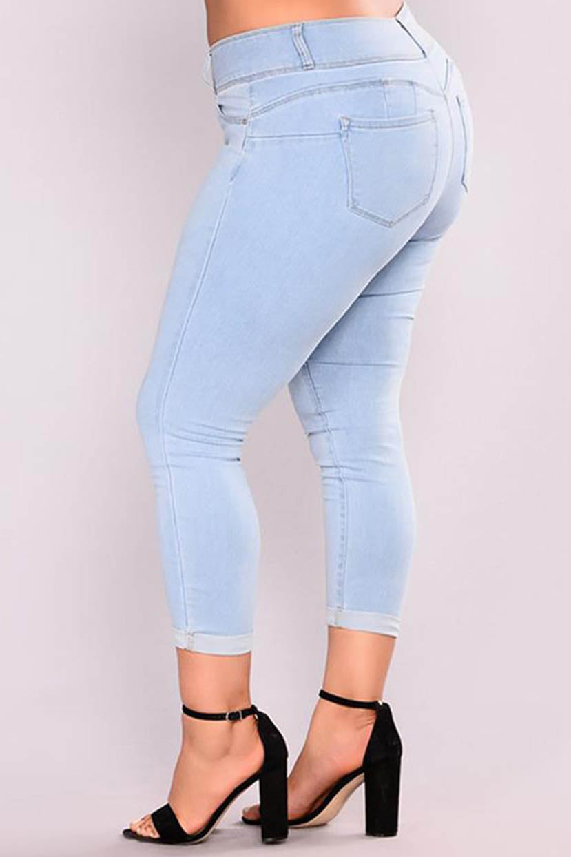 Basic Cropped Ankle Jeans