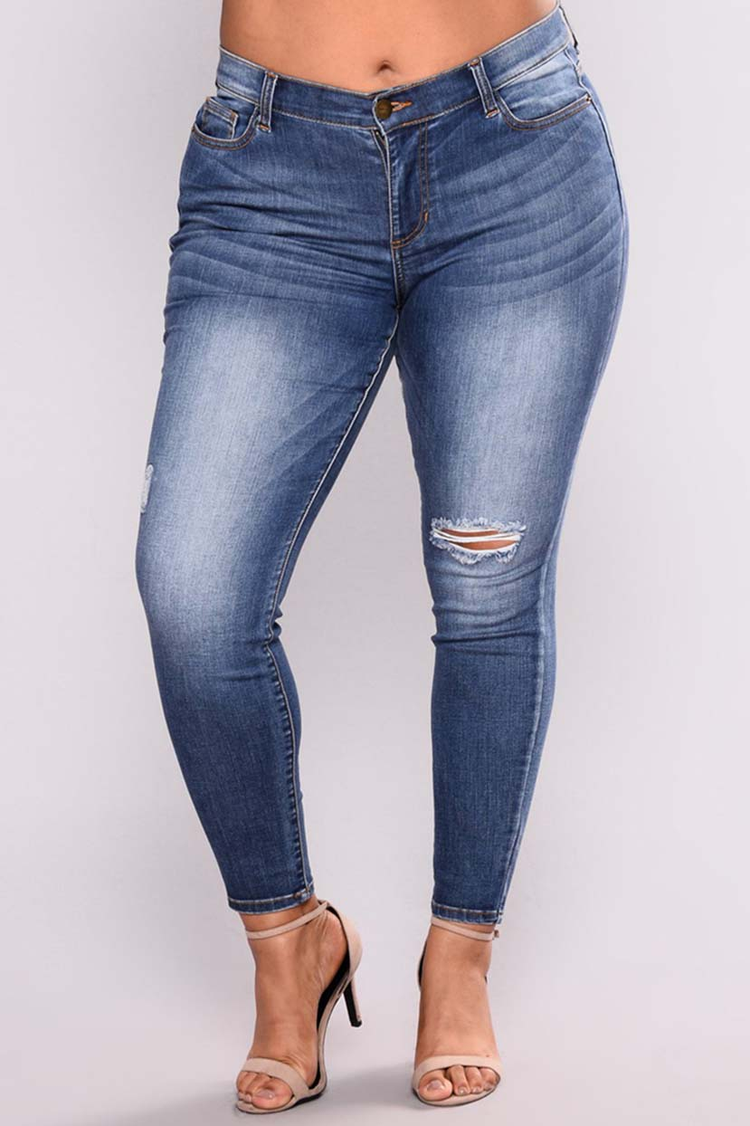 Impressive Slightly Distressed Denims