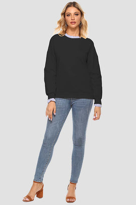 Fashion Hole False Two Piece Sweatshirt