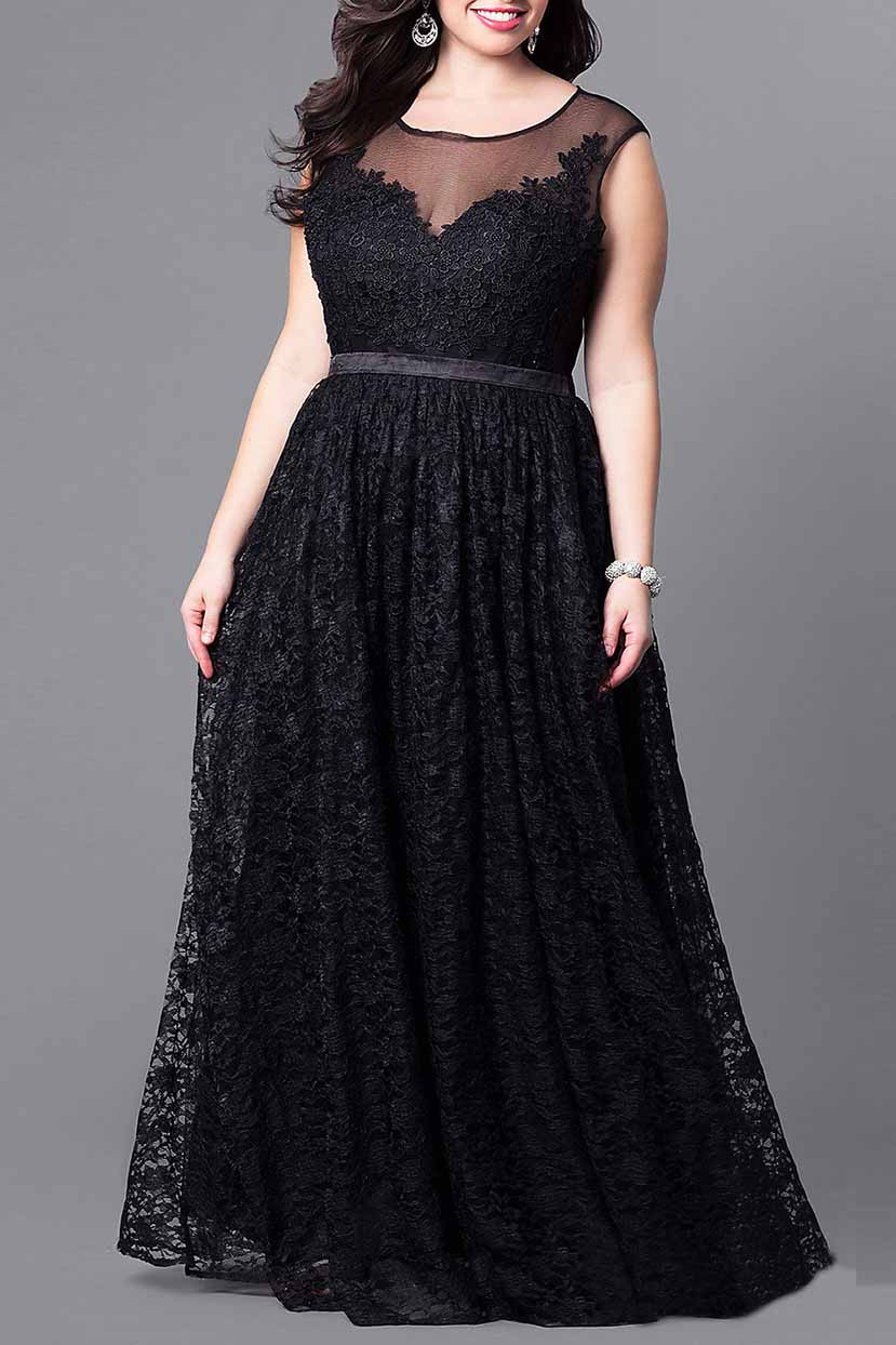 Elegant Flared  Long Party Dress
