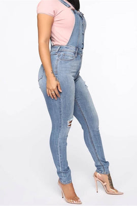 Overall Skinny Denim Dungaree