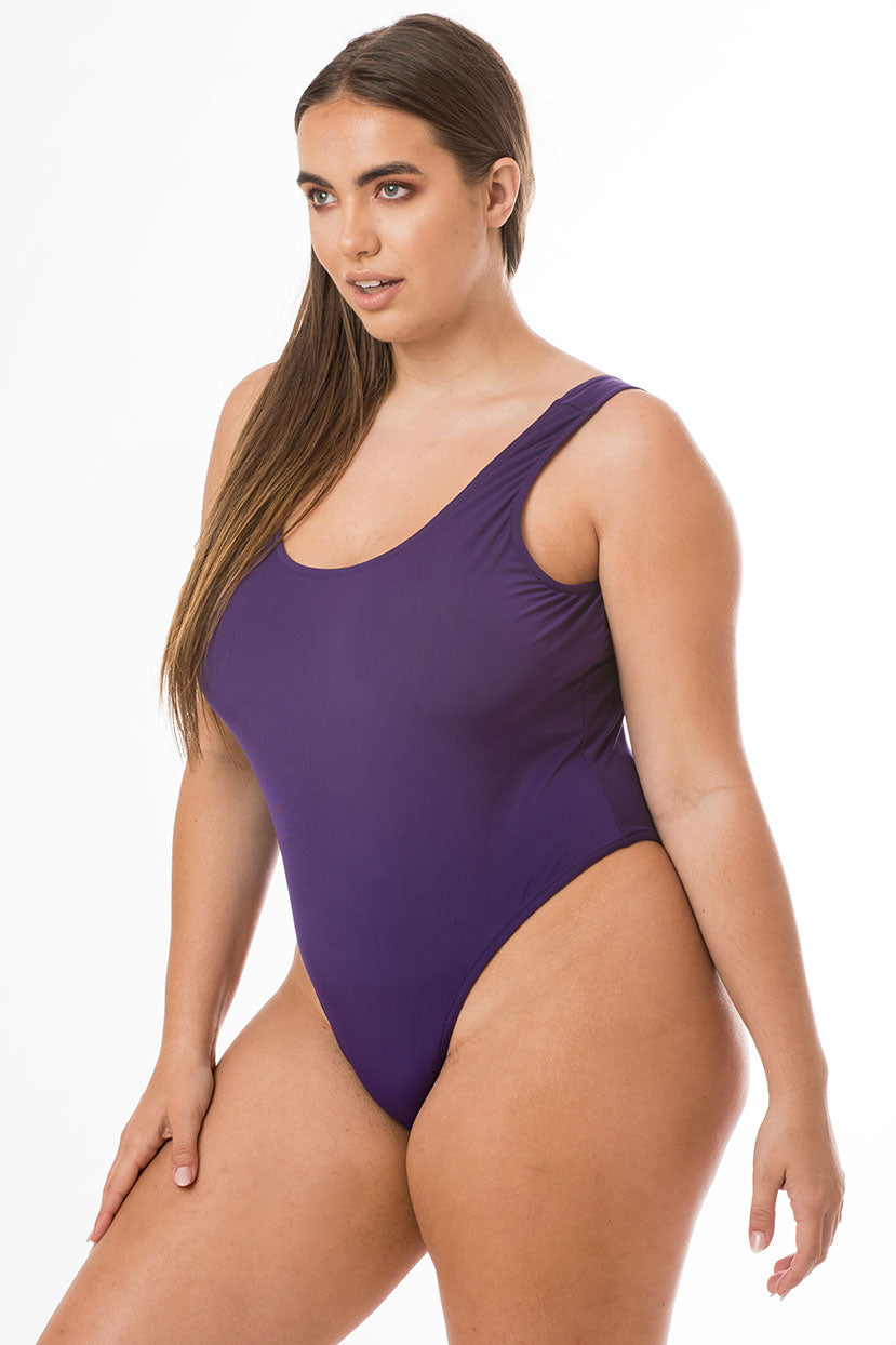 Basic Violet One Piece