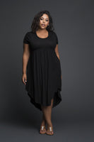 Plus Size Jersey Little Black Dress