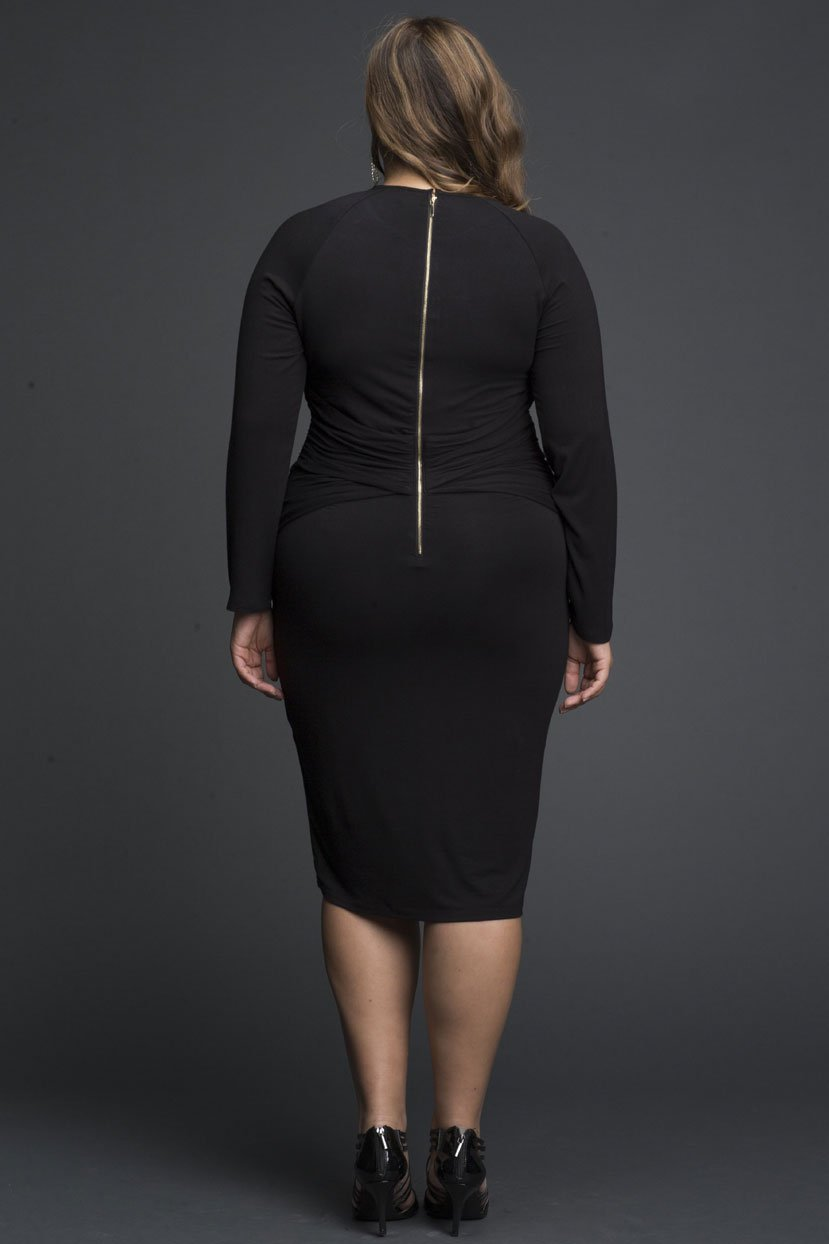 Keyhole Neck Detail Bodycon Dress