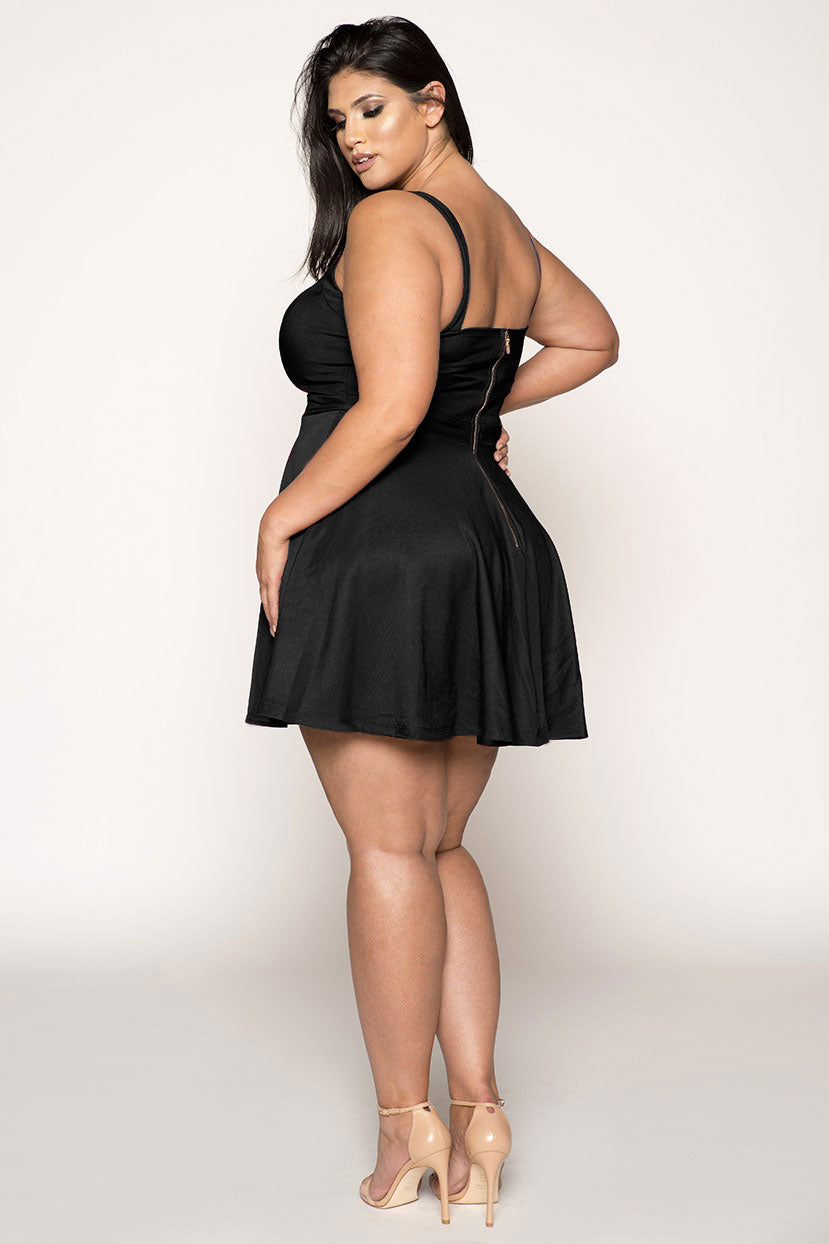 Black Peekaboo Cocktail Dress