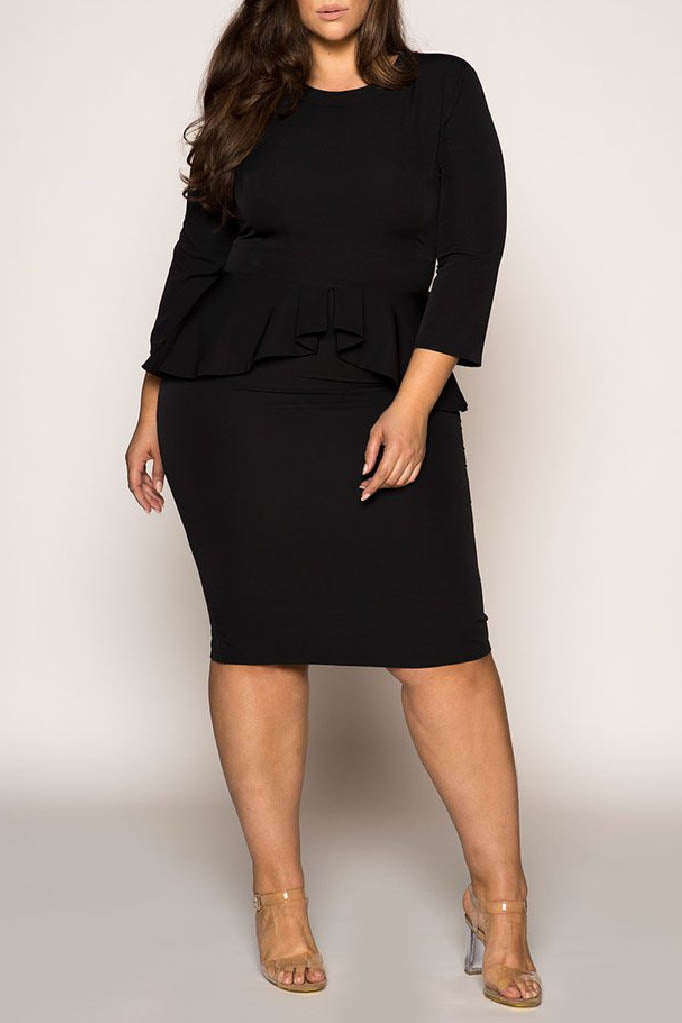 Boss Girl peplum Dress - $49.99