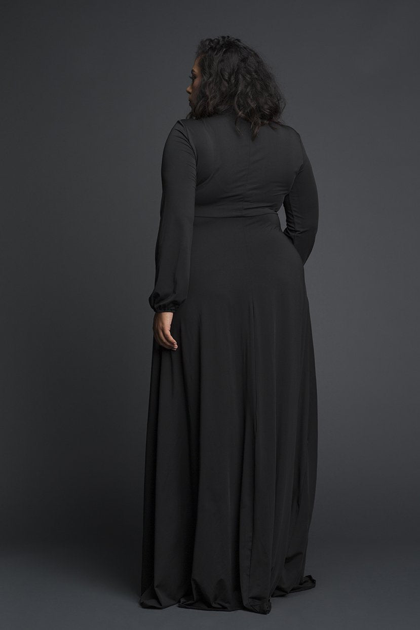 Empire Line Keyhole tie Maxi Dress