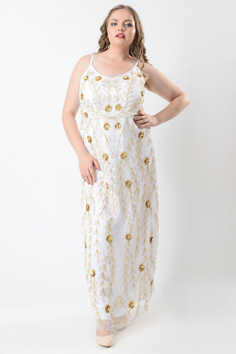 Golden diva maxi dress