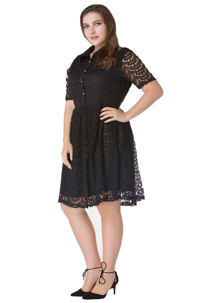 Crochet Net Evening Frock Dress