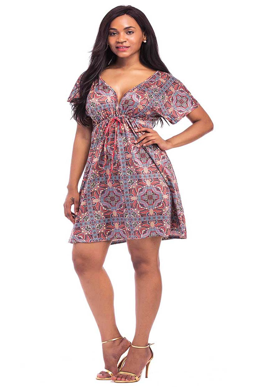 Symmetries Of Culture Print Short Dress