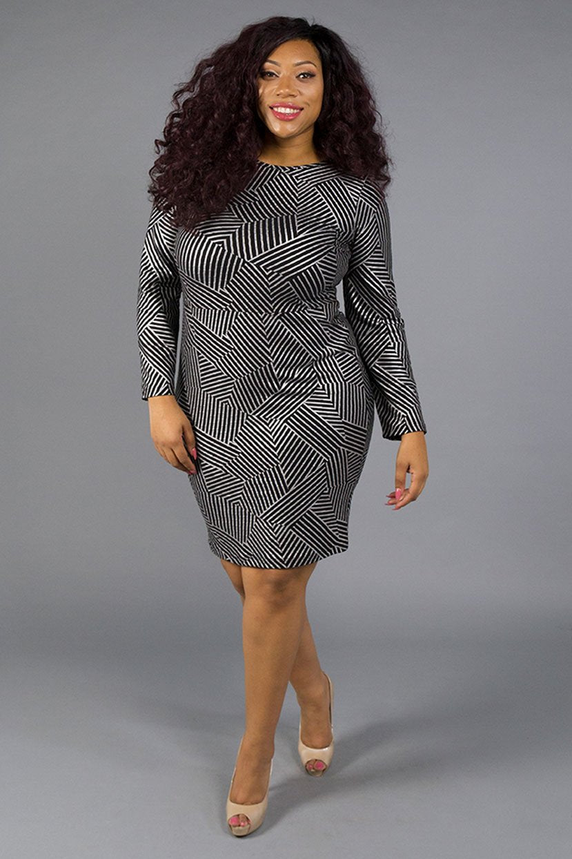 Tall Plus Size General Print Bodycon Dress