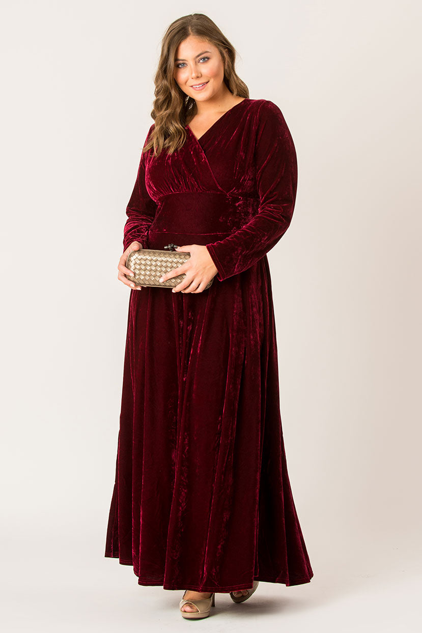 Miss Rose Velvet Maxi Dress