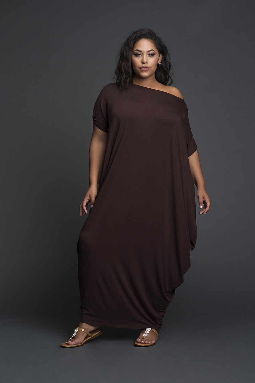One sided Oversize Comfort Lycra Shoulder Dress