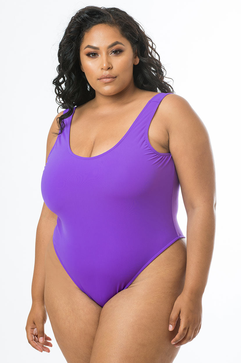 Basic Amethyst Purple One Piece
