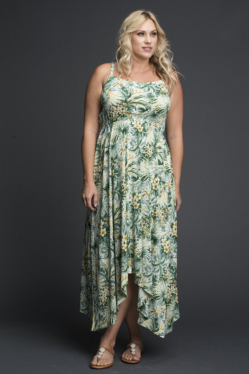 Green Floral Print Everyday Maxi Dress