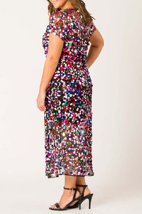 Sequin Chaser midi dress