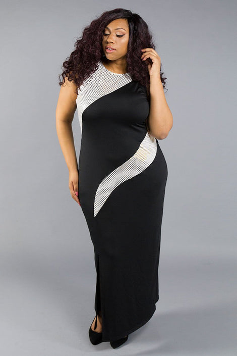 Sleeveless Body Shaper Dress with Sequins