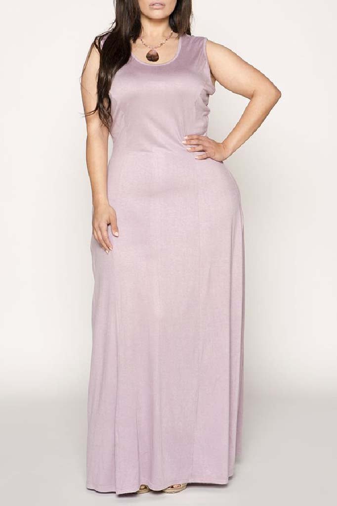 Slip On Sleeveless Comfort Maxi Dress
